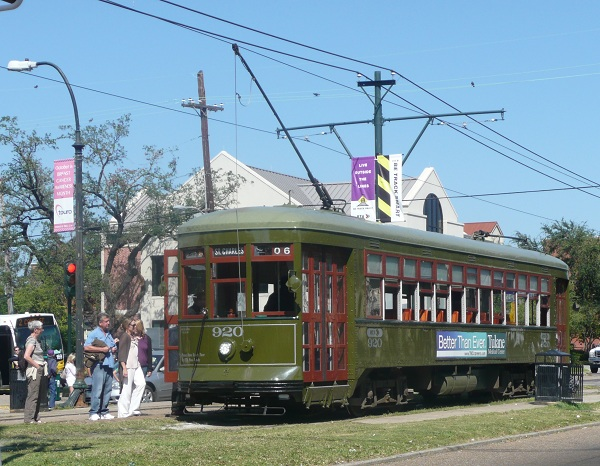 Trolley on St Charles Ave