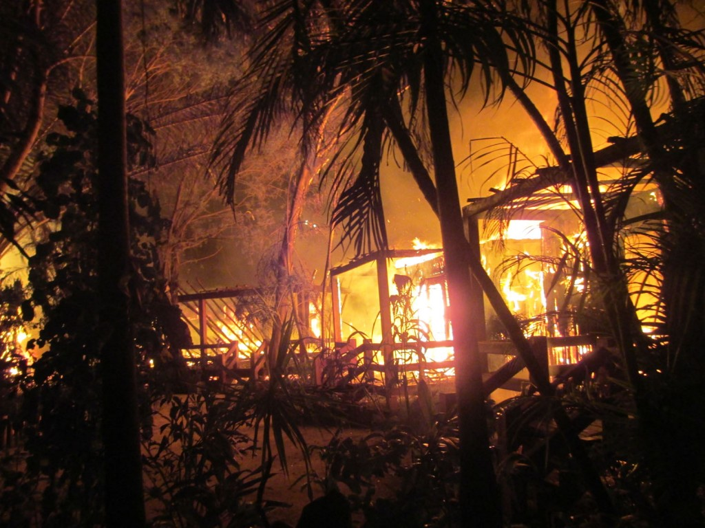 Ramon Village goes up in Flames
